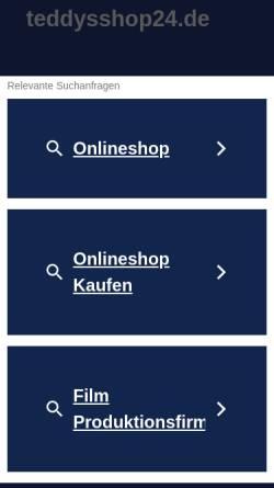 Vorschau der mobilen Webseite www.teddysshop24.de, Teddy´s Hundeparadies, Stefan, Kinzel