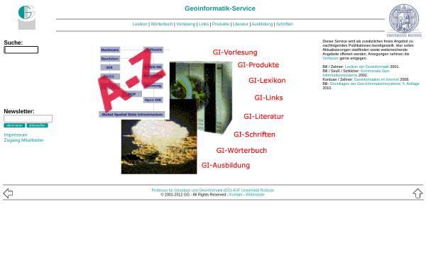 Vorschau von www.geoinformatik.uni-rostock.de, Geoinformatik-Service der Universität Rostock