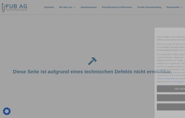 Vorschau von www.fub.ag, FUB Finanzberatung und Unternehmensberatung AG
