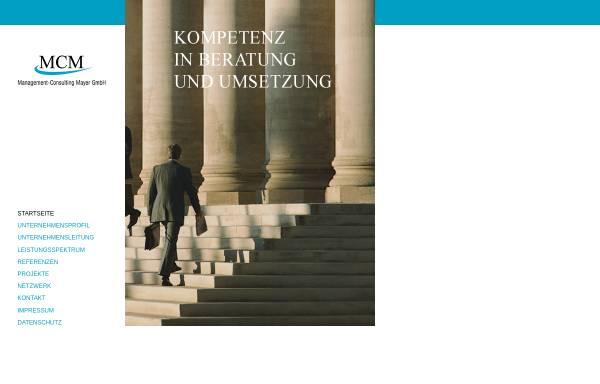Vorschau von www.mcmgmbh.de, MCM Management-Consulting Mayer GmbH