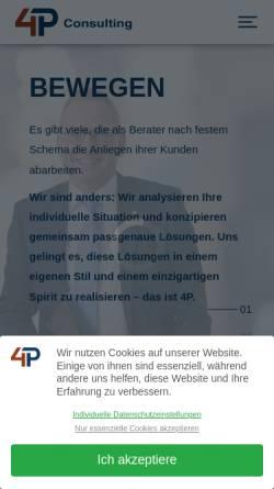 Vorschau der mobilen Webseite www.4p-consulting.de, 4P Consulting GmbH