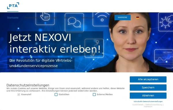 Vorschau von www.pta.de, PTA GmbH