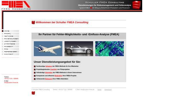 Vorschau von system-fmea.de, Schuller FMEA Consulting, Inh. Heinrich-Daniel Schuller