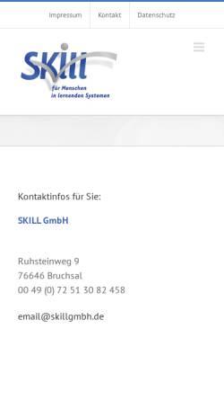Vorschau der mobilen Webseite skillgmbh.de, Skill GmbH