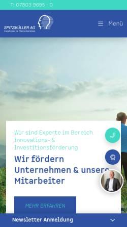Vorschau der mobilen Webseite spitzmueller.de, Spitzmüller AG