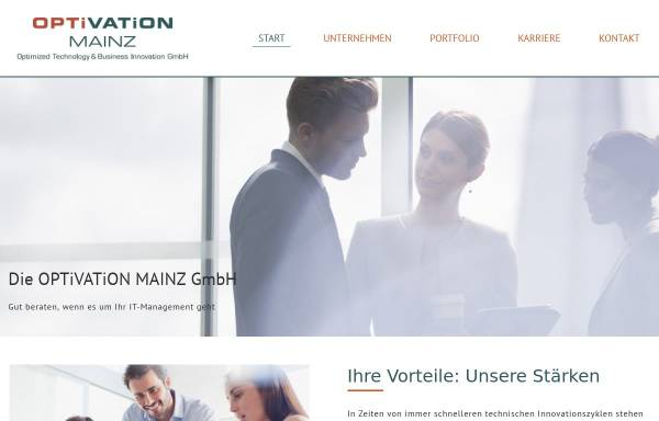 Vorschau von www.optivation.de, Optivation - Optimized Technology & Business Innovation GmbH