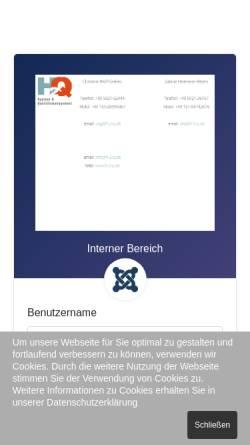 Vorschau der mobilen Webseite www.h-2-q.de, H2Q - Hygiene und Qualitätsmanagemant, Inh. Sabine Heitmeier-Albers und Christine Wolf-Geibies