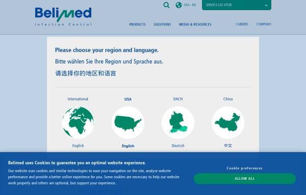 Vorschau von www.belimed.ch, Belimed AG