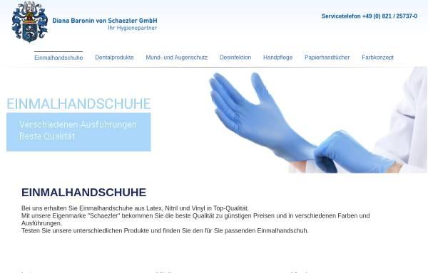 Vorschau von www.einmalhandschuhe.de, Diana Baronin von Schaezler GmbH