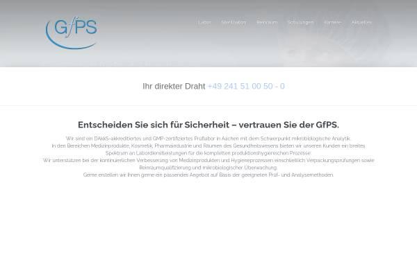 Vorschau von www.gfps.de, GfPS Gesellschaft für Produktionshygiene und Sterilitätssicherung mbH