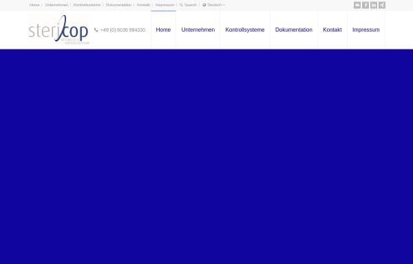 Vorschau von www.stericop.de, Stericop GmbH & Co. KG