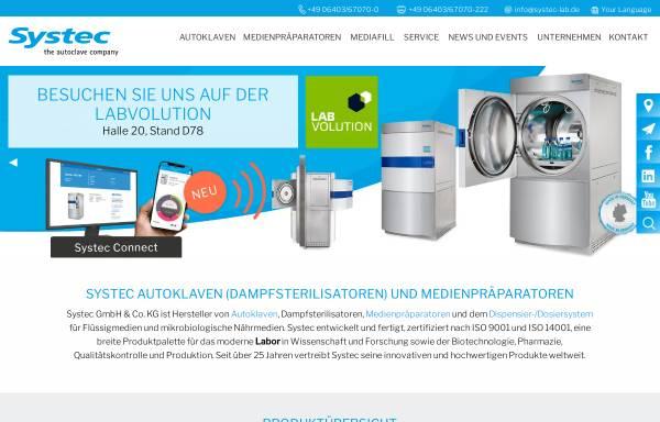 Vorschau von www.systec-lab.de, Systec GmbH