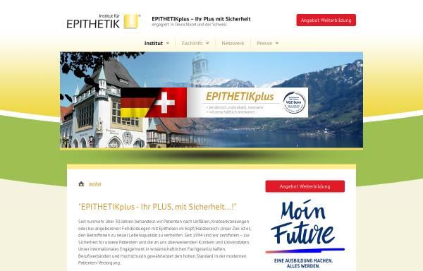 Vorschau von www.epithetikplus.com, Institut für Epithetik