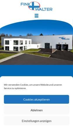 Vorschau der mobilen Webseite www.fink-walter.de, Fink & Walter GmbH