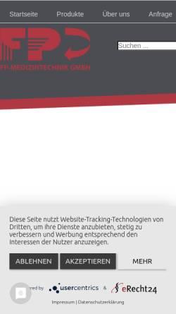 Vorschau der mobilen Webseite www.fp-medizintechnik.de, FP-Medizintechnik GmbH