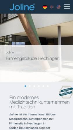 Vorschau der mobilen Webseite www.joline.de, Joline GmbH & Co. KG