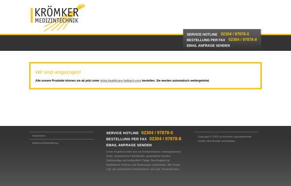 Vorschau von www.kroemker.de, Krömker Spezialvertrieb GmbH