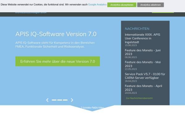 Vorschau von www.apis.de, APIS Informationstechnologien GmbH