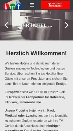 Vorschau der mobilen Webseite www.kmt-online.de, K.M.T. Kramer Medientechnik GmbH