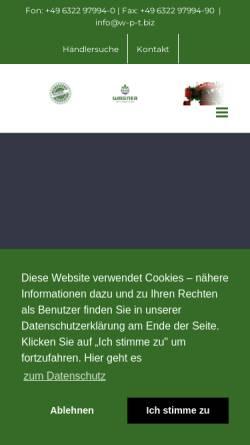 Vorschau der mobilen Webseite w-p-t.biz, Wagner Pflanzen Technik GmbH