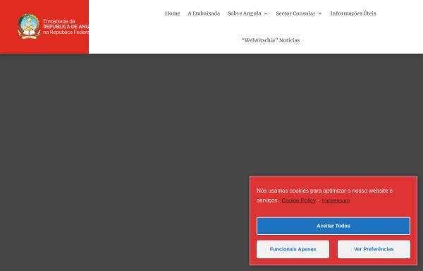Vorschau von www.botschaftangola.de, Das Portal der Republik Angola