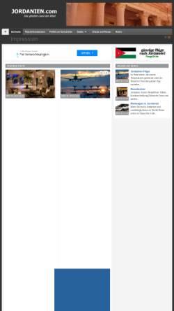 Vorschau der mobilen Webseite www.jordanien.com, Jordanien.com