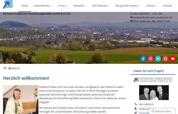 Vorschau von www.schramm-assekuranz.de, Atos Versicherungsmakler GmbH & Co. KG