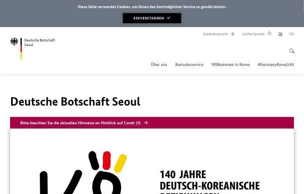Vorschau von www.seoul.diplo.de, Deutsche Botschaft Seoul