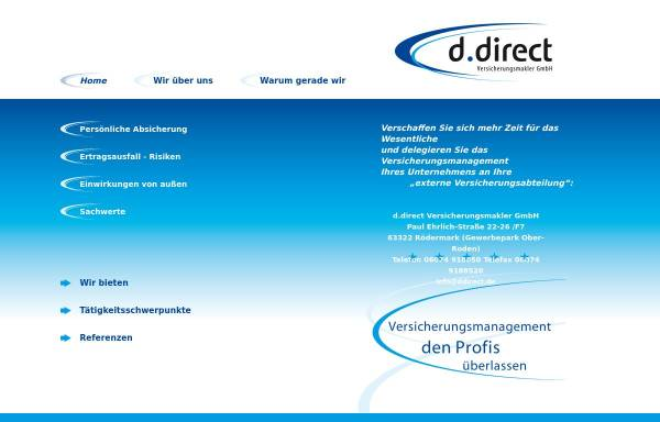 Vorschau von www.ddirect.de, D.direct Versicherungsmakler GmbH
