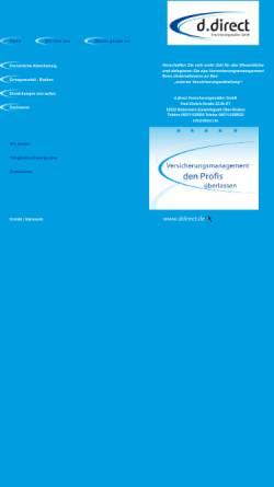 Vorschau der mobilen Webseite www.ddirect.de, D.direct Versicherungsmakler GmbH
