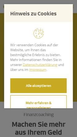 Vorschau der mobilen Webseite www.dvag.de, DVAG Deutsche Vermögensberatung AG