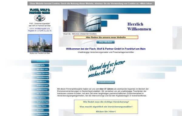 Vorschau von www.fwp-versicherungsmakler.de, Flach, Wolf & Partner GmbH