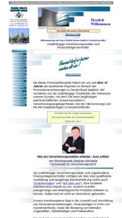 Vorschau der mobilen Webseite www.fwp-versicherungsmakler.de, Flach, Wolf & Partner GmbH
