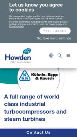 Vorschau der mobilen Webseite www.agkkk.de, Aktiengesellschaft Kühnle, Kopp & Kausch