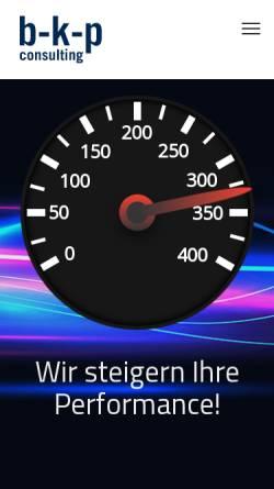 Vorschau der mobilen Webseite www.b-k-p.com, b-k-p consulting GmbH