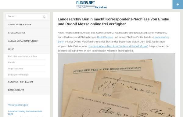 Vorschau von www.augias.net, Augias.net