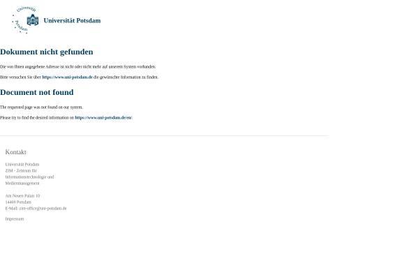 Vorschau von www.uni-potsdam.de, Alexander von Humboldt im Netz: Die ganze Welt in einem Werk