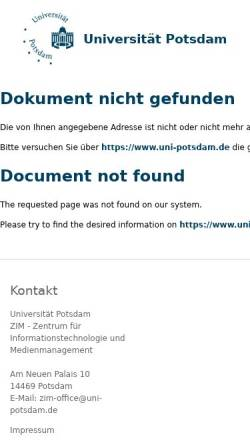 Vorschau der mobilen Webseite www.uni-potsdam.de, Alexander von Humboldt im Netz: Die ganze Welt in einem Werk
