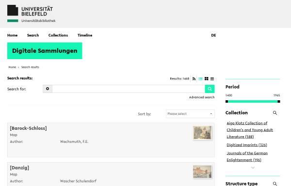 Vorschau von www.ub.uni-bielefeld.de, Wissenschaftliche Zeitschriften des 18. und 19. Jahrhunderts