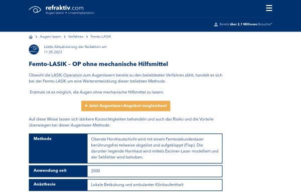 Vorschau von femto-lasik-blog.com, Femto Lasik Blog