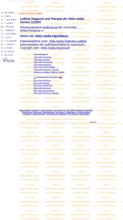 Vorschau der mobilen Webseite www.evidence.de, Leitlinie Otitis media acuta