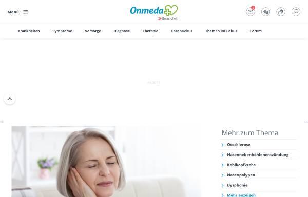 Vorschau von www.onmeda.de, Onmeda: Hörsturz
