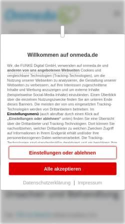 Vorschau der mobilen Webseite www.onmeda.de, Onmeda: Hörsturz