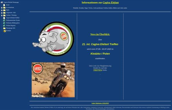 Vorschau von alexfischer.de, Alex Fischers Cagiva Elefant-Seiten