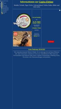 Vorschau der mobilen Webseite alexfischer.de, Alex Fischers Cagiva Elefant-Seiten