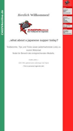 Vorschau der mobilen Webseite www.cagivaonline.de, Cagiva Online