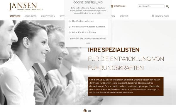 Vorschau von www.jbt.de, Jansen Beratung & Training International