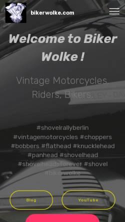 Vorschau der mobilen Webseite www.bikerwolke.com, Bikerwolke.com