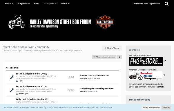 Vorschau von street-bob-forum.de, Street Bob Forum