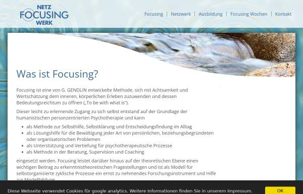 Vorschau von www.focusing-netzwerk.de, Focusing-Netzwerk